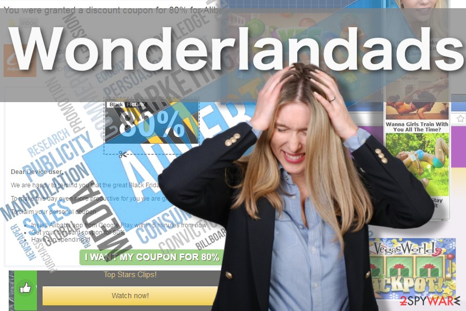 The picture showing Wonderlandads virus