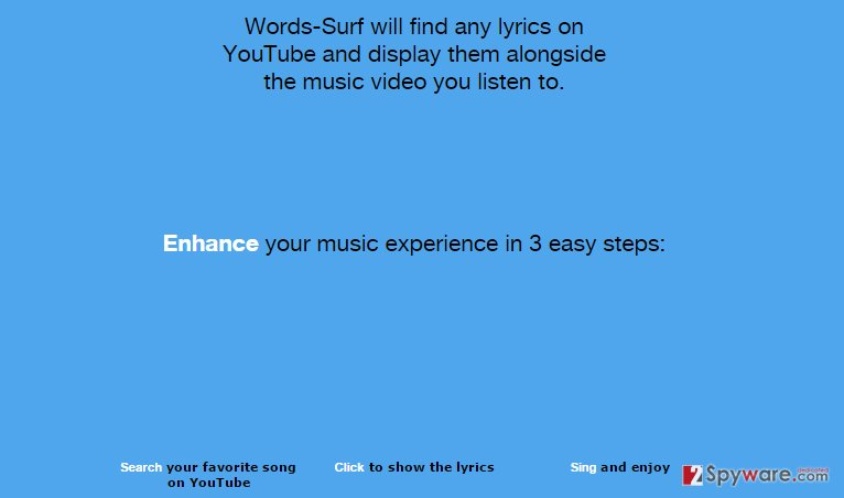 Words-Surf ads
