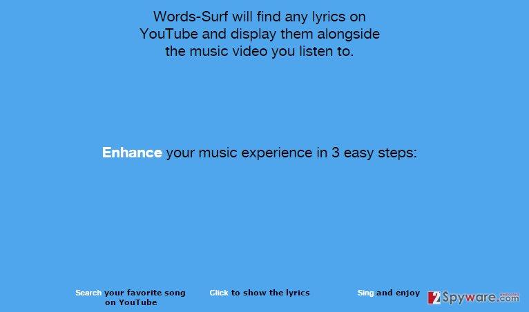 Words-Surf ads