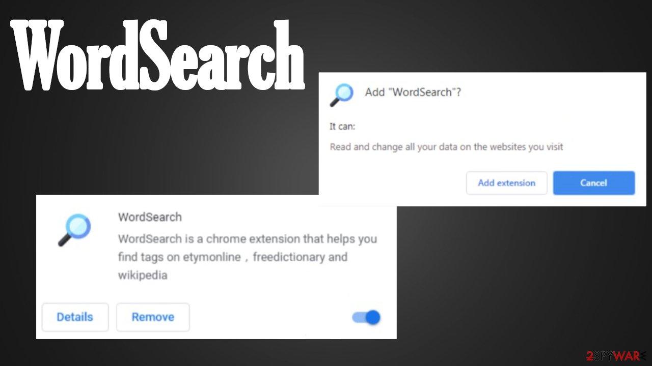 WordSearch browser hijacker