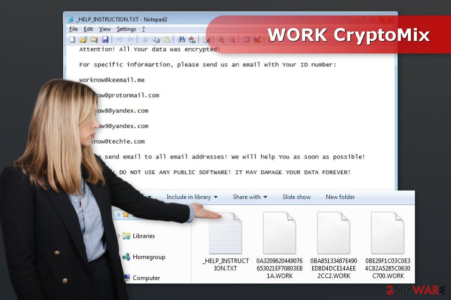 Image of WORK ransomware