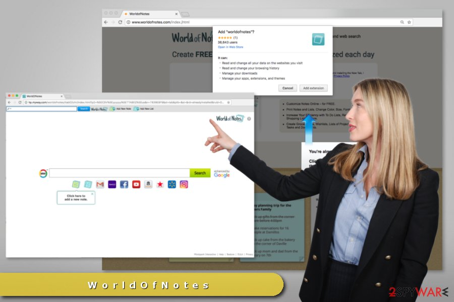 WorldofNotes Toolbar changes default search engine