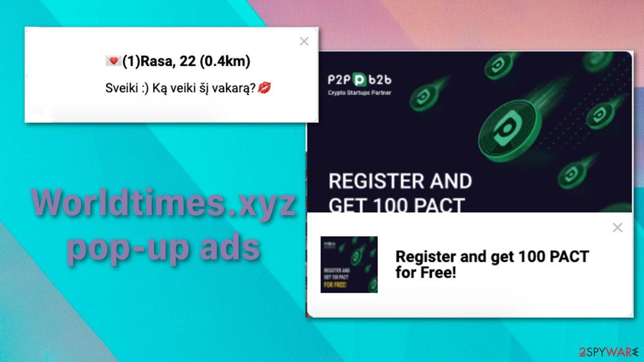 Worldtimes.xyz pop-up ads
