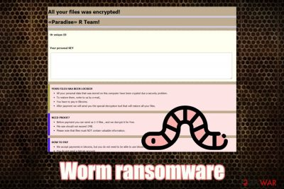 Worm ransomware