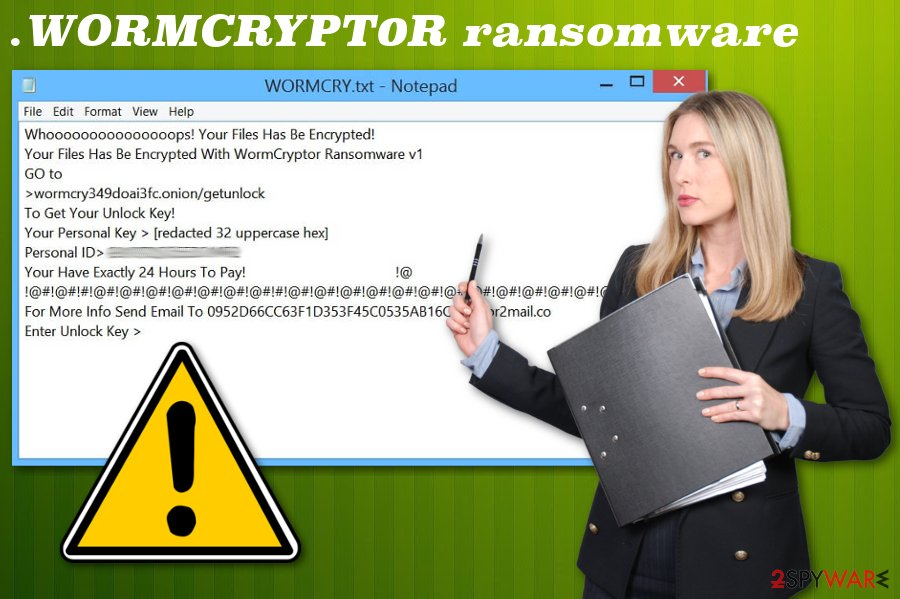 .WORMCRYPT0R file extension virus