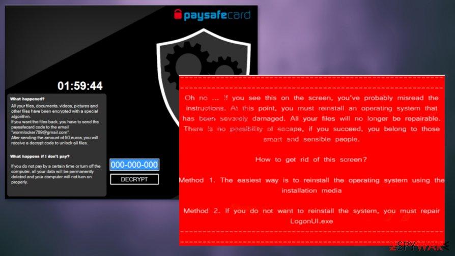 WormLocker file virus