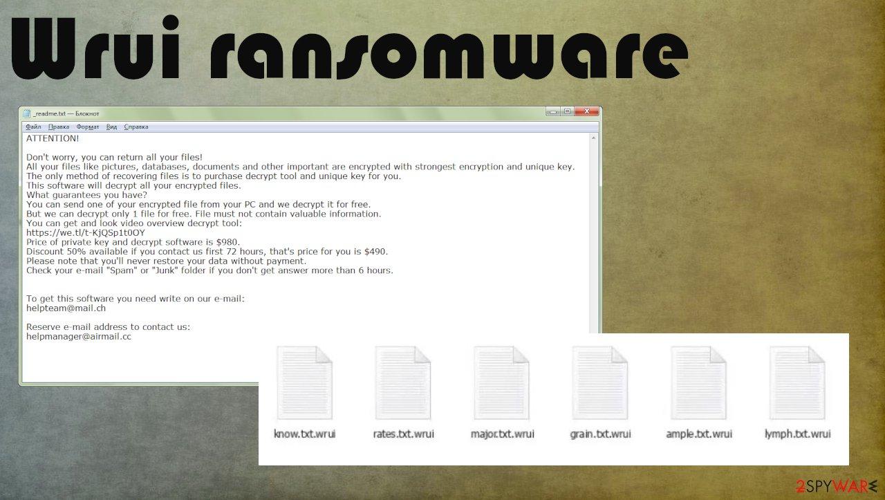 Wrui ransomware