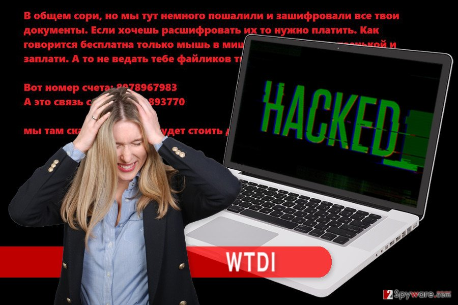 The illustration of WTDI ransomware virus