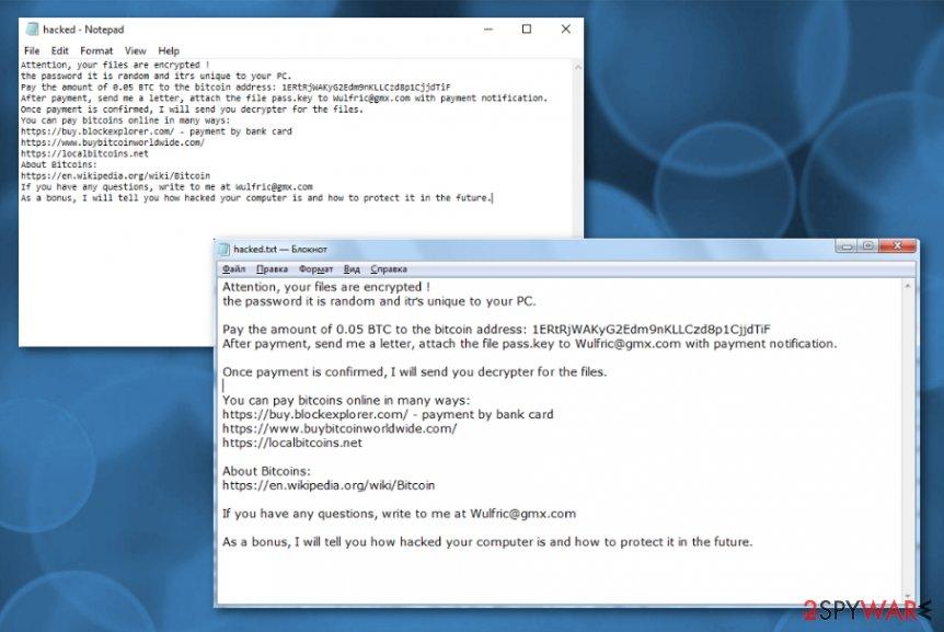 Wulfric ransomware virus