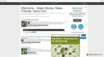 The picture showing www3.mylot.com ads