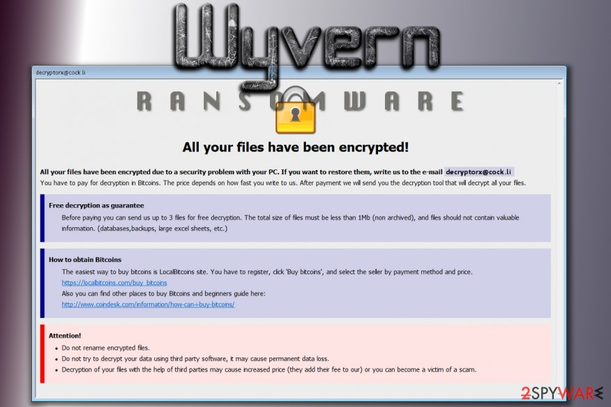 Wyvern ransomware