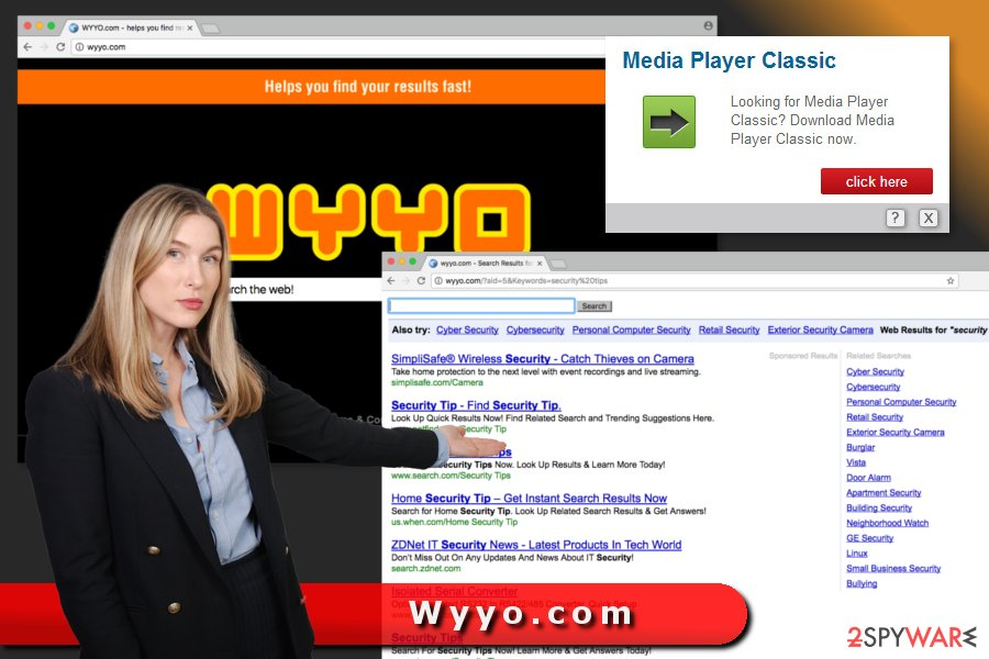 The picture of Wyyo.com virus