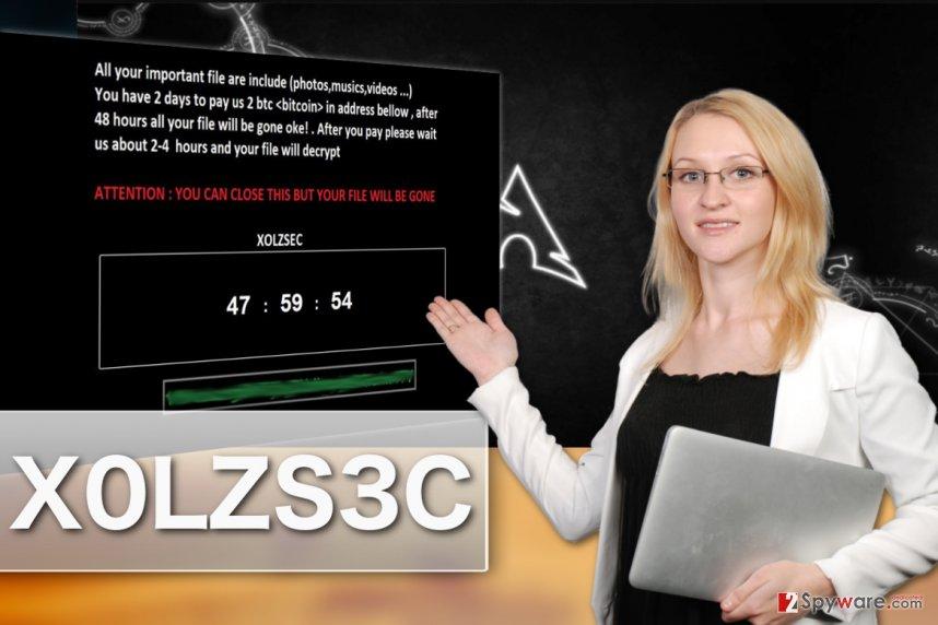 Illustration of X0LZS3C ransomware virus
