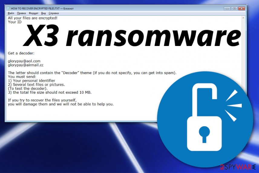 Remove X3 ransomware (Decryption Steps Included) - Free Guide