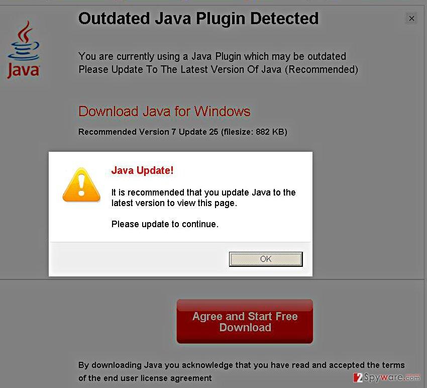 MediaUpdate41.com virus snapshot