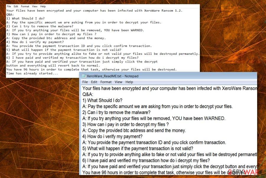 XeroWare ransomware virus