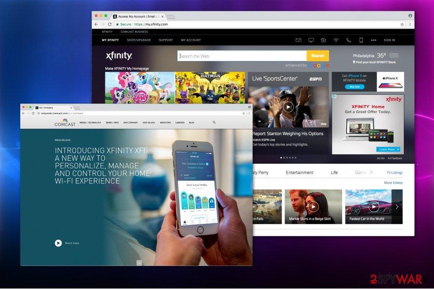 XFinity toolbar image