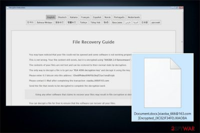 XIAOBA 2.0 Ransomware image