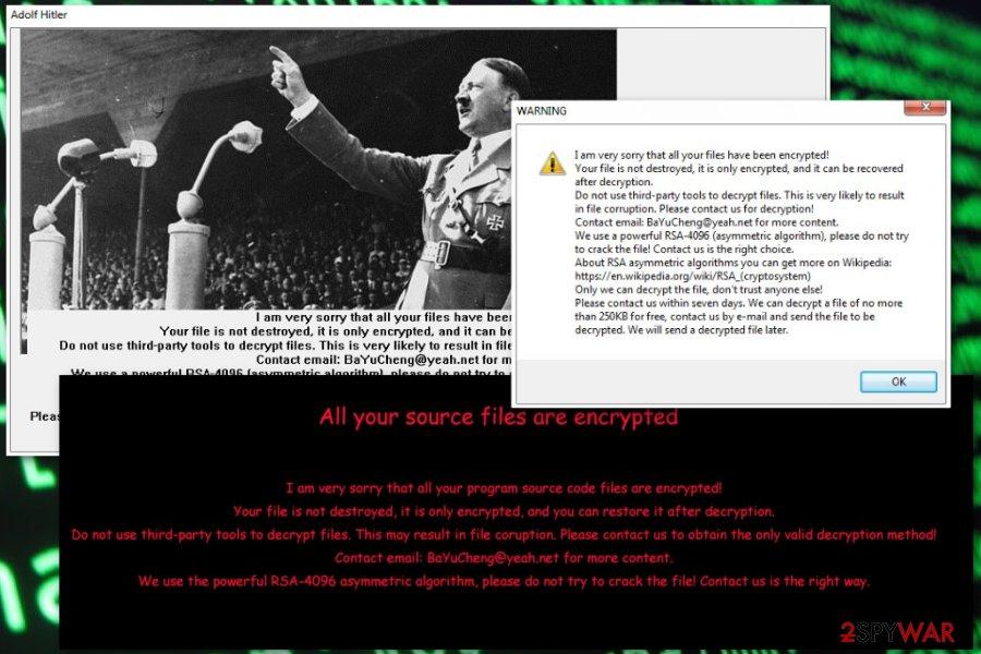 XiaoBa AdolfHitler ransomware virus