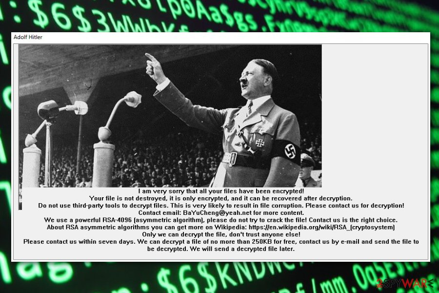XiaoBa AdolfHitler ransomware