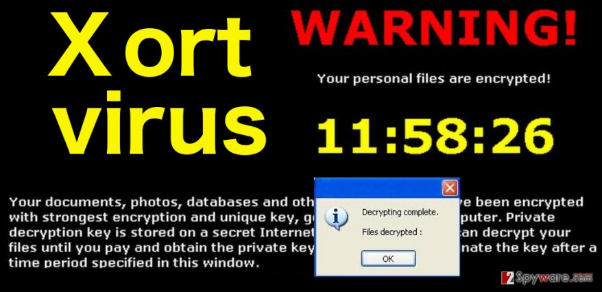 Xort ransomware virus illustration