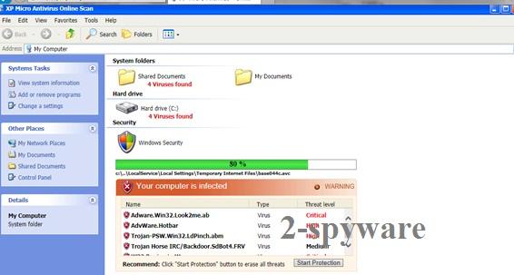 XP Micro Antivirus Online Scan snapshot