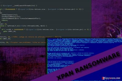 The picture dsiplaying Xpan programming code samples