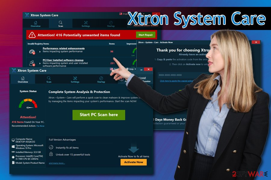 Xtron System Care hoax
