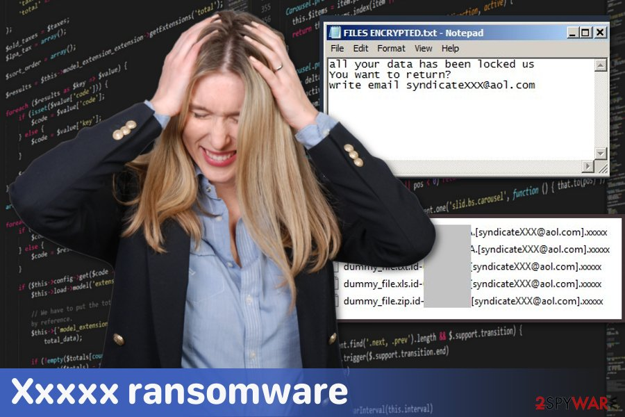 Xxxxx ransomware virus
