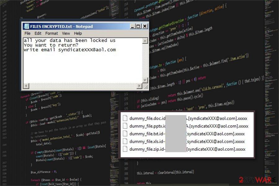 Xxxxx ransomware