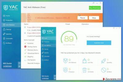 Screenshot of YAC