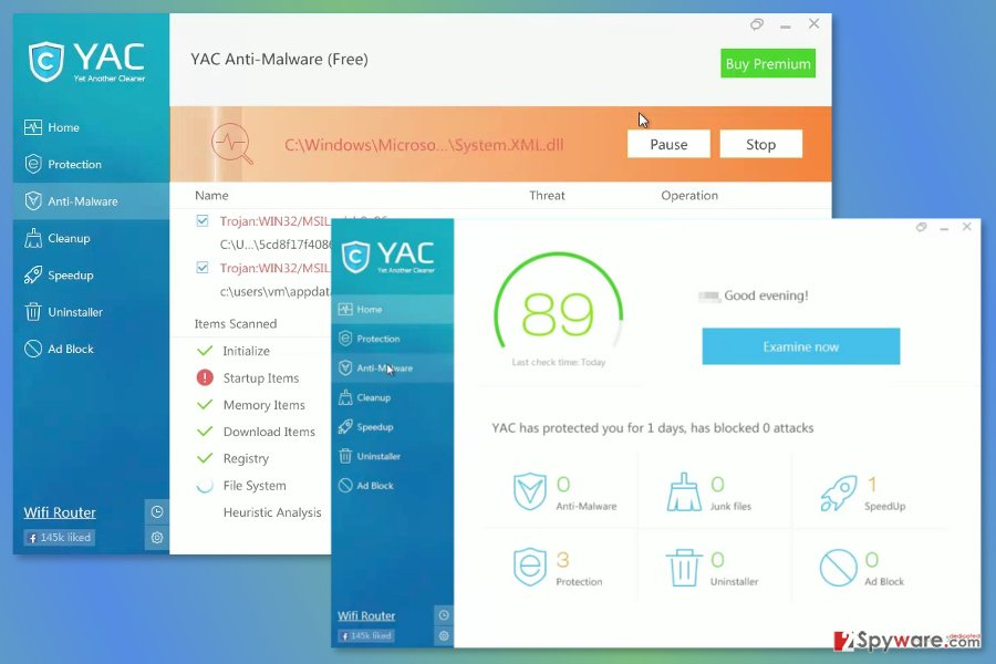 Screenshot of YAC