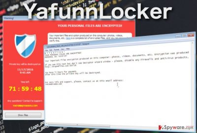 image showing YafunnLocker virus