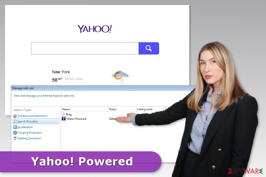 Yahoo Powered hijack