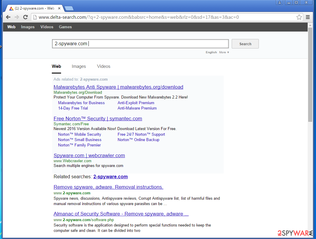 Yahoo redirects to other search engines
