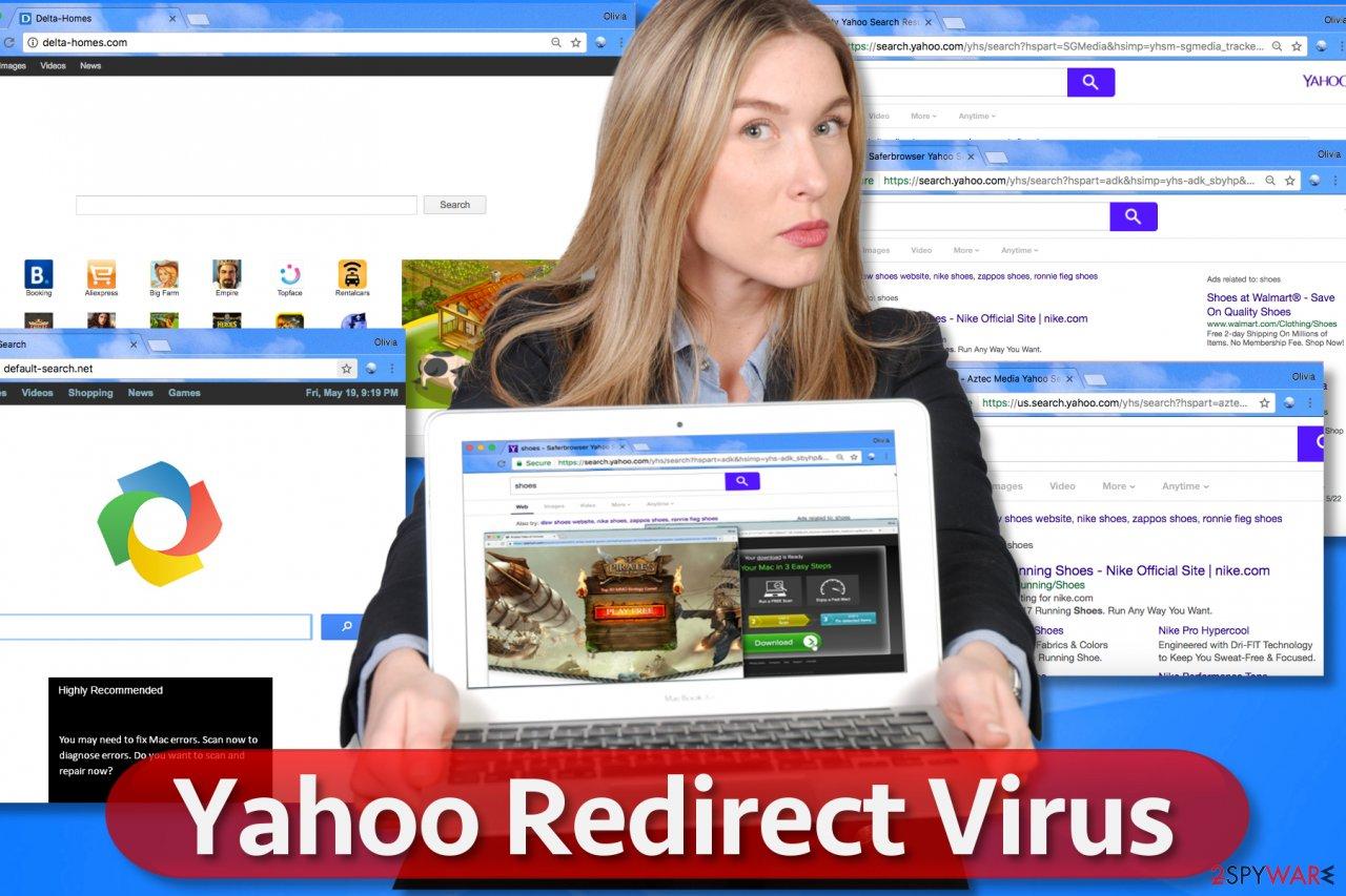 Yahoo redirect malware