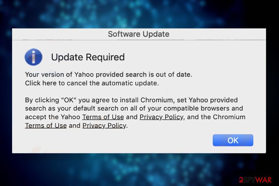 Yahoo Search virus Mac