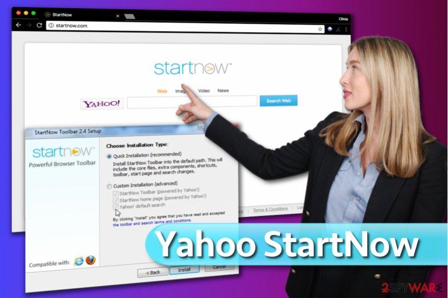 Yahoo StartNow Search Toolbar