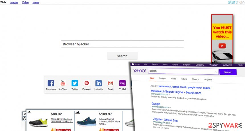 how to uninstall yahoo search