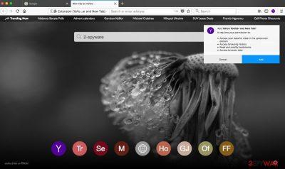 Yahoo Toolbar on Firefox web browser