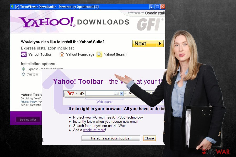 Yahoo Toolbar installer