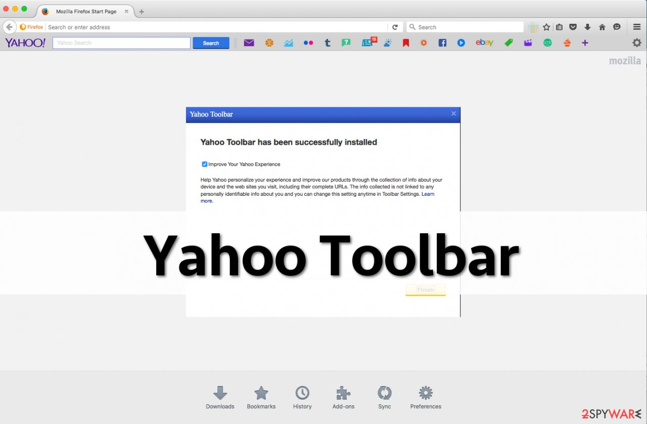 Screenshot of Yahoo Toolbar