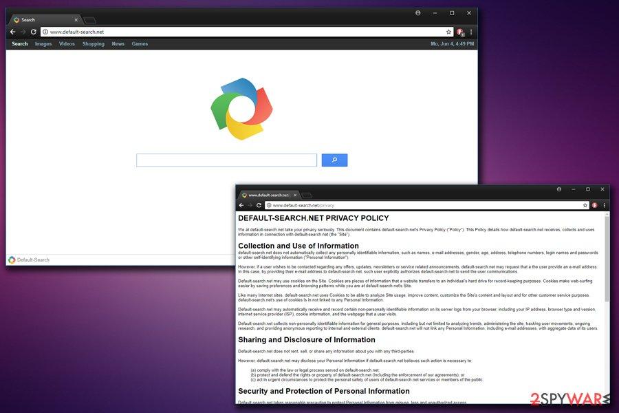 Yahoo virus default-search hijack