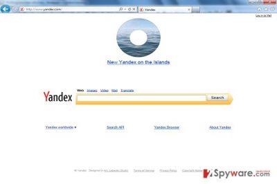 Yandex Toolbar redirect