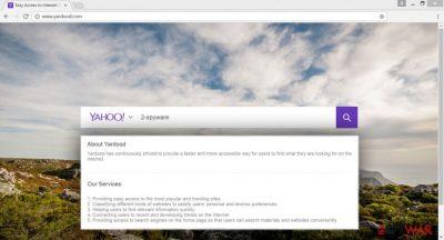 The picture of Yardood.com virus