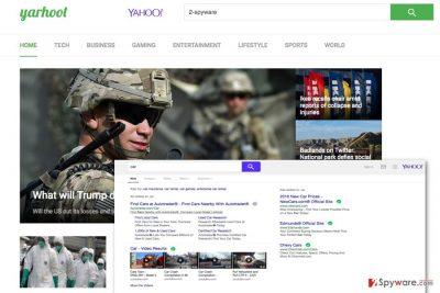 Screenshot of the Yarhoot.com virus