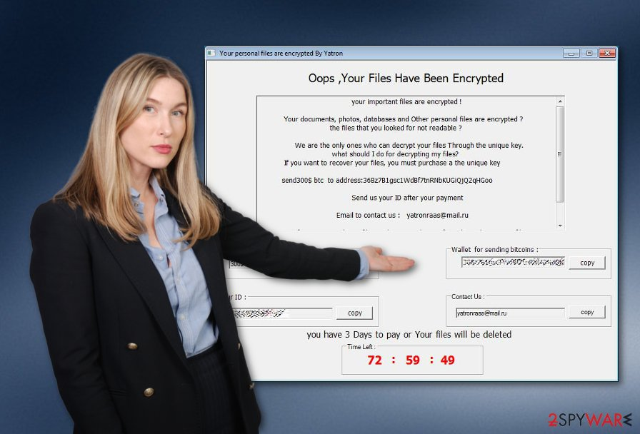 Yatron ransomware