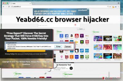 Screenshot of Yeabd66.cc redirect virus