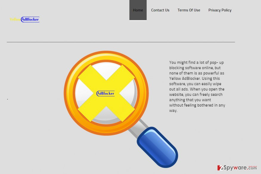 Yellow Adblocker snapshot