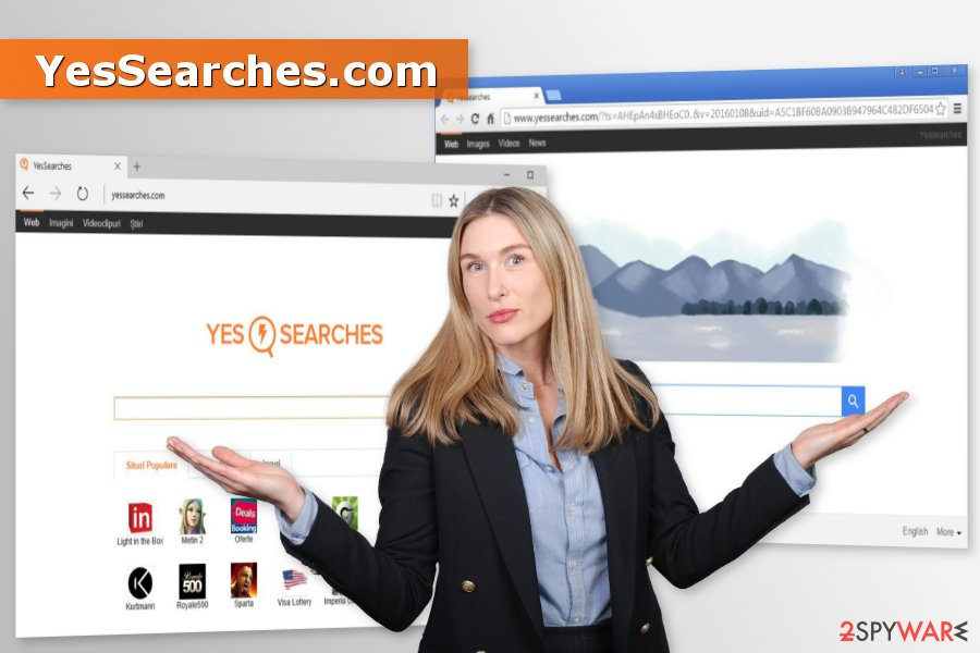 The picture of YesSearches.com browser hijacker